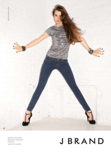 J Brand's Classic Skinny Jeans Featured in Their Spring 2010 Ad Campaign